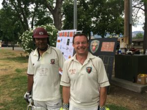 Abhijit Doc Adhye (L) and Jeff Keene opening the batting for NVCC cricket season