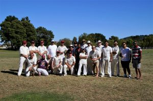NVCC and Marin CC Socials members pictured after their recent game at Piper Park in Larkspur