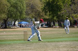 NVCC batsman Tim Kay pictured at the crease during the recent game against Marin Socials CC