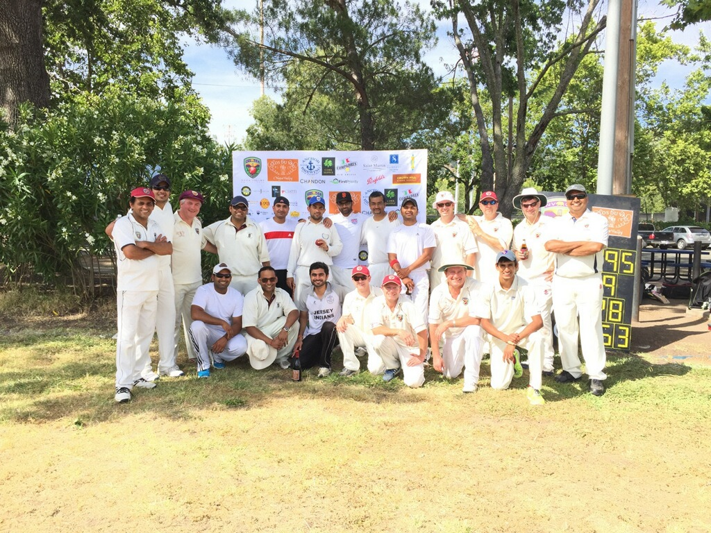 Napa Valley CC and Sonoma Gullies pictured after their first game of 2015. Credit Suyash Krishan