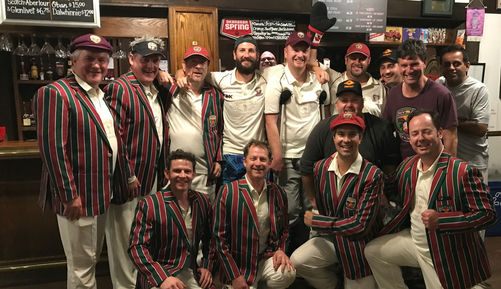 Napa Valley CC members pictured in the historic Brockton Pavilion during their recent tour to Vancouver.