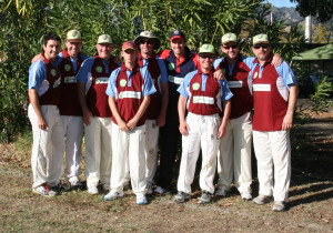 Napa Valley Players with Nick Compton (L-R) Tim Irwin, Bernie Peacock, Phil Bourke, Caen Healy, Martin Mackenzie, Nick Compton, Colin Nolan, Rob Bolch, Clive Richardson