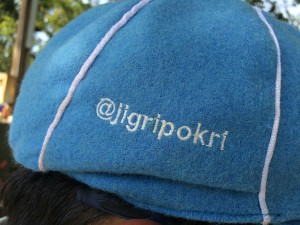 No surprises that the Twitter Kabootars crickets team have their personal Twitter handles embroidered into their Twitter colore