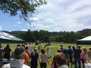 Napa Valley CC ANZAC Day rememberance ceremony at the Napa Valley World Series of Cricket