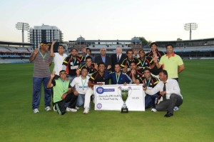 The 2013 Last Man Stands World Champions pictured at Lords cricket ground in London