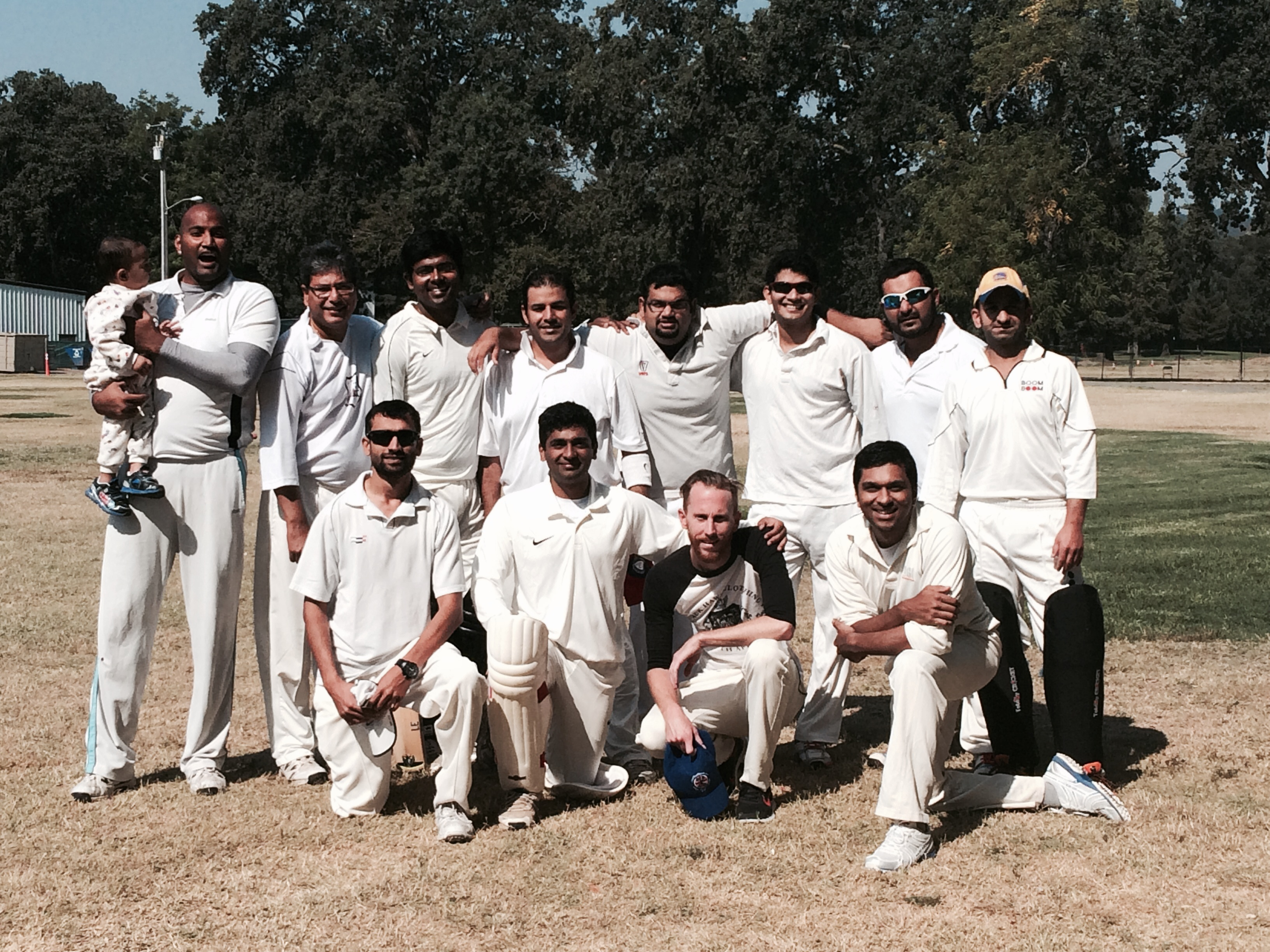The visiting Thunberbolts team captained by Raj Padhi (back row, second from the left) who currently lead the Bay Area Cricket Alliance Summer T20 League