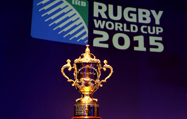 World Cup 2015 with Webb Ellis trophy