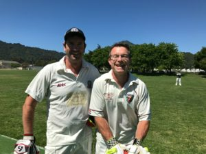 2018 Presidents Award winner Martin Mackenzie (L) pictured with fellow New Zealander Jeff Keene at Piper Park, Marin in 2018