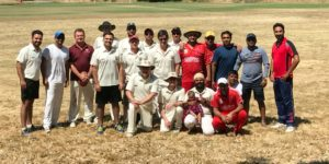After match photo of NVCC and Bradshaw CC teams recently when they played at McGrath Field, Napa State Hospital