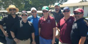 Bill Wagner (Far right) pictured at the NVCC Golf Day at Silverado Resort in 2016. Submitted Photo