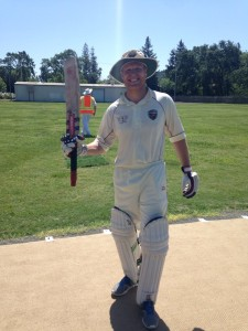NVCC Opening Batman Dale Moorhouse who scored 74 runs off 57 balls. Credit- Tim Irwin