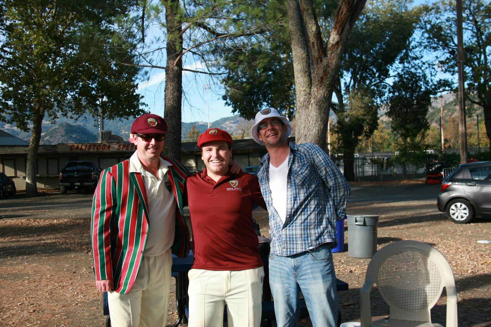NVCC members (L-R) Rob Bolch, Michael Rule, and Graham Jones at the final game of 2015