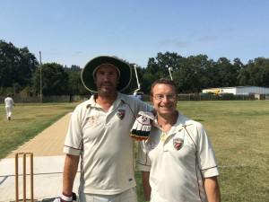 NVCC opening batsmen and fellow New Zealanders Martin Mackenzie (L) and Jeff Keene