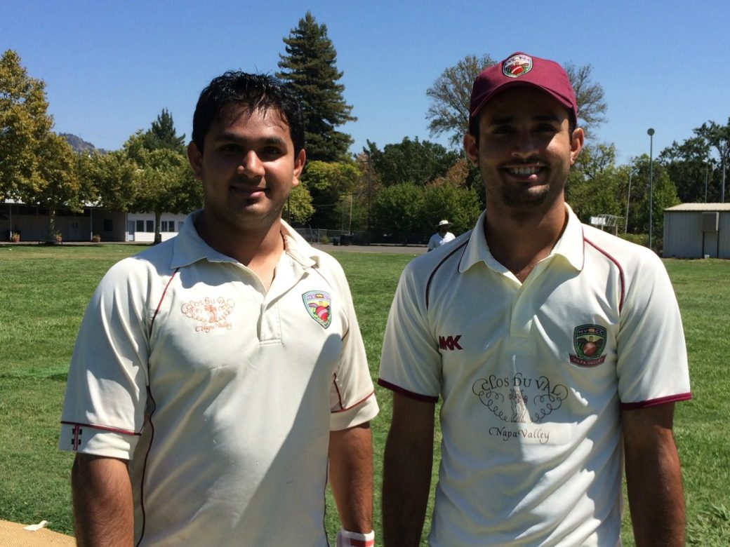 The Maqsood Brother (Adersh (L) and Moe) pictured before their recent opening partnership against the Sonoma Gullies. North Bay cricket