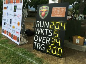 The final scoreboard as Sonoma Gullies beat NVCC by 7 wickets