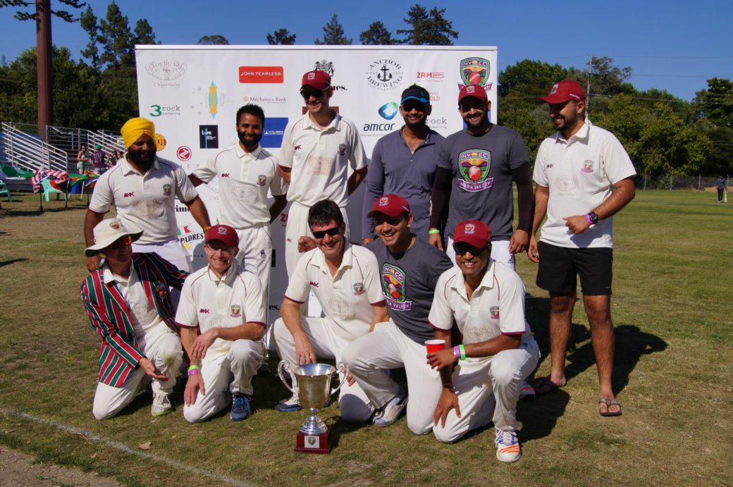 The winning Rest of the World Team of the 2017 Napa Valley World Series of Cricket